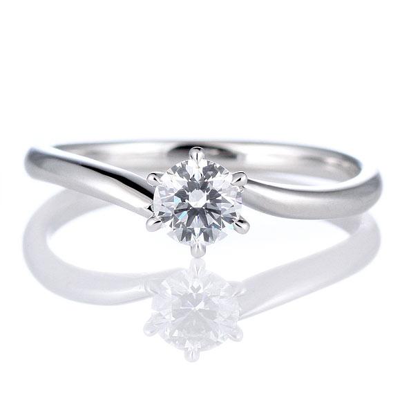 ウェーブ型の婚約指輪