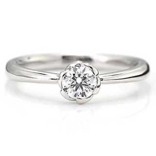 お花の婚約指輪