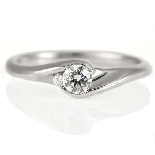 まっすぐな婚約指輪