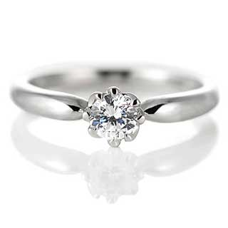 丸みのある婚約指輪