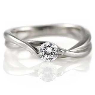 ねじりアームの婚約指輪