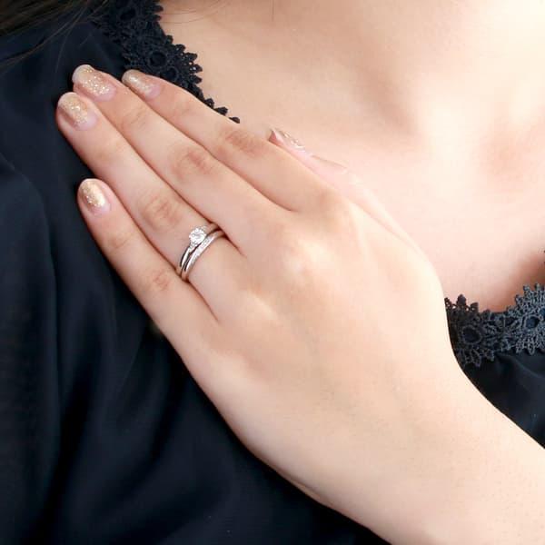 eb4bea126e ... 【鑑定書付】婚約指輪&結婚指輪 3本セット プラチナ ダイヤモンド リング ...