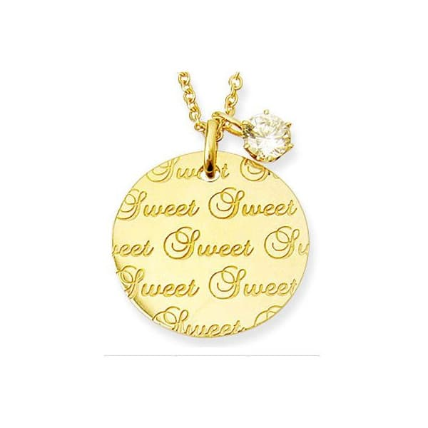 Brand Jewelry me. Sweet&Sweetリバーシブルプレーネックレス YellowGoldコーティング