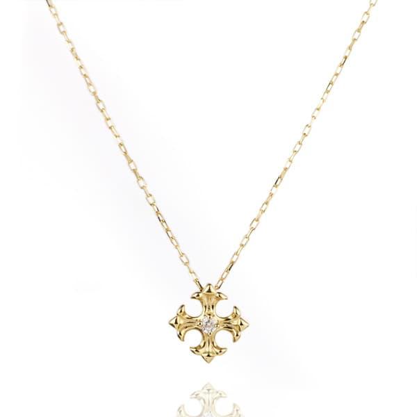 41c686982a86b5 ダイヤモンド ネックレス クロス 十字架 ネックレス レディース イエローゴールド