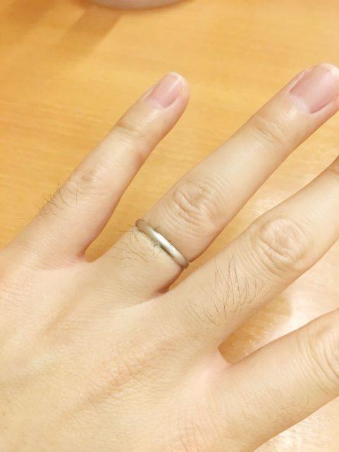 値段もリーズナブルで、この価格でプラチナの指輪が購入出来るとは思ってもいませんでした