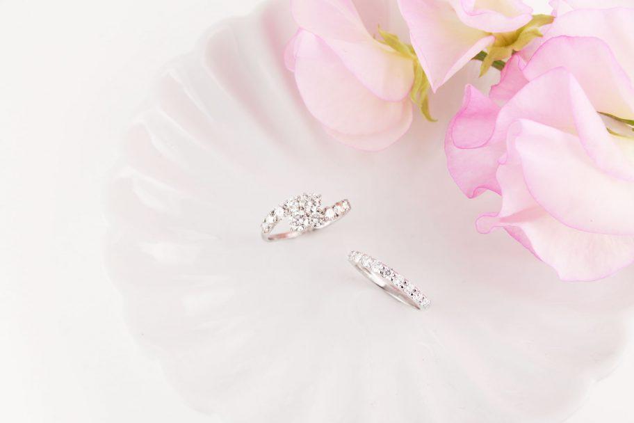 指輪につけるダイヤモンドも用意していただいており、見ることができました。